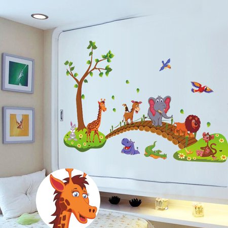 Diy Wall Decals Cartoon Animals Music
