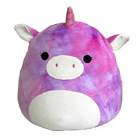 "Squishmallow 13"" Tie Dye Rainbow Unicorn, Large Super Soft Pillow Plush"