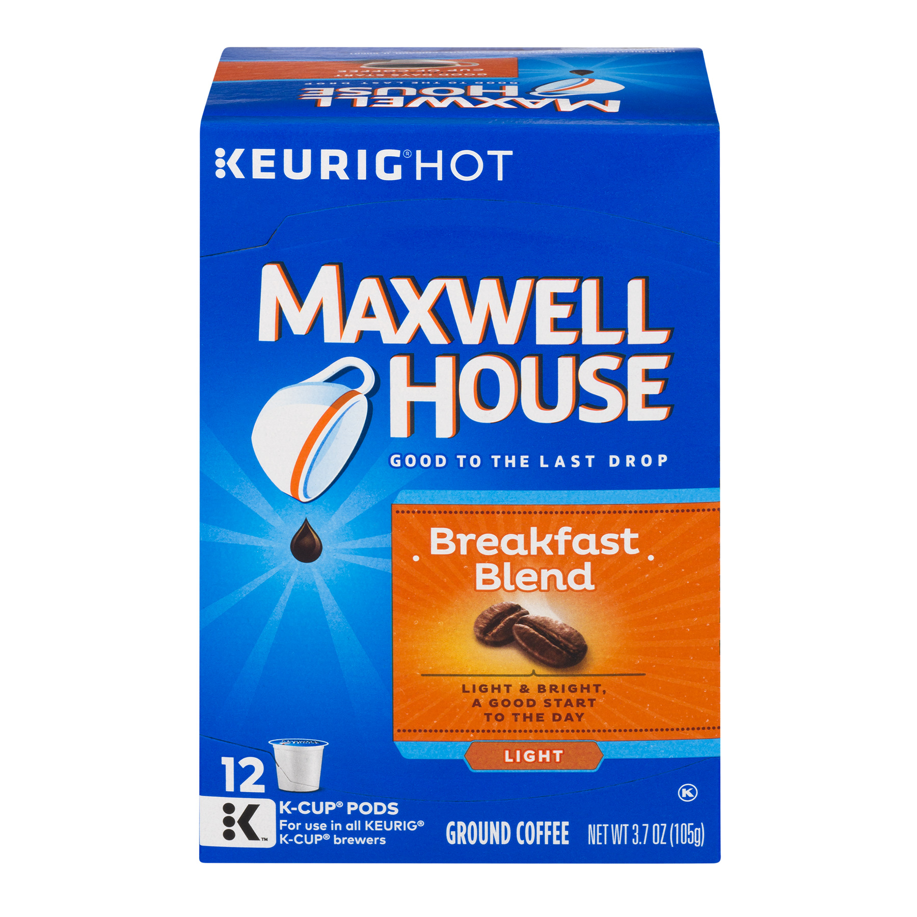 Maxwell House Ground Coffee K-Cup Packs Breakfast Blend - 12 CT
