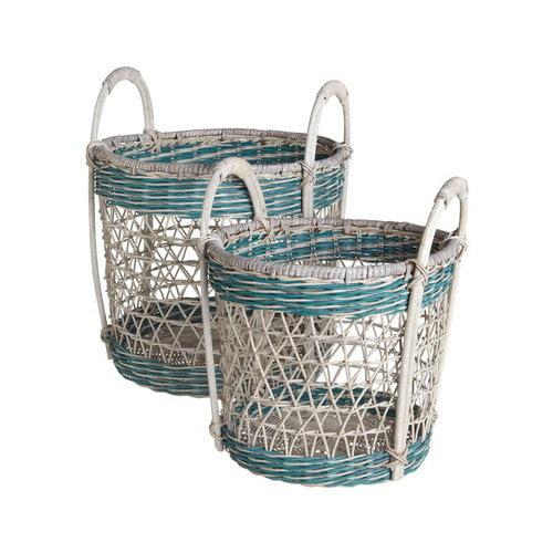 CBK Open Weave 2 Piece Basket Set