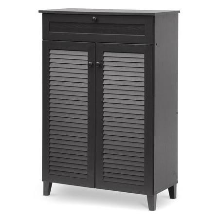 - Baxton Studio Harding Shoe Storage Cabinet