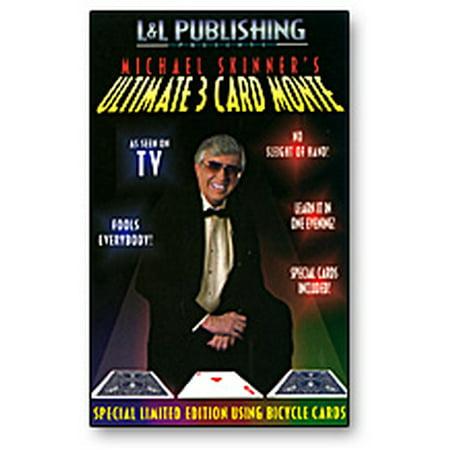 Ultimate 3 Card Monte Card Trick - Skinner (Red)