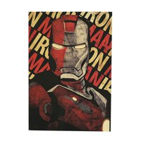 Michellem House Hollywood Movie Poster Iron - Man Design Poster Room Wall Decoration Retro Kraft Paper Vintage Poster Wall Stickers 1PCS(51 x 35 cm Style 1)