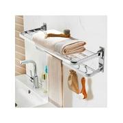 Wall Mounted Stainless Steel Brushed Bath Towel Racks Shelf Bar Holder Foldable Towel Bar Rack Hanger