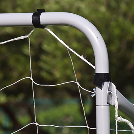 Best Choice Products 12x6ft Portable Weather-Resistant Steel Frame Soccer Goal Sports Training Tool Accessory for Outdoor, Backyard w/ Net, Straps, and Anchors - White - Futsal Goal Nets