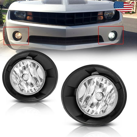 Fog Lights for Chevy Camaro 2010 2011 2012 2013 (OE Style Clear Lens with Bulbs & Wiring