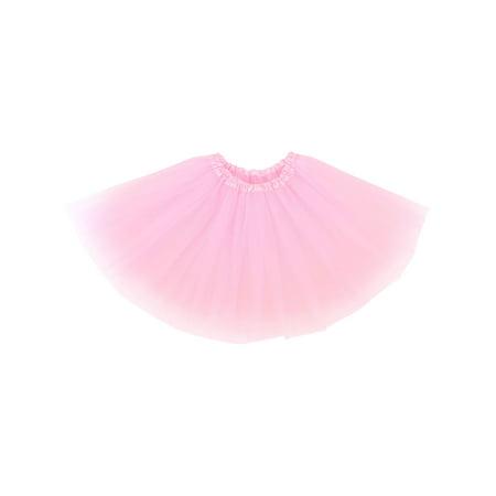 Adult Classic 3-layered Tulle Tutu Ballet Skirts Ruffle Pettiskirt, Pink (Pettiskirt Adult)