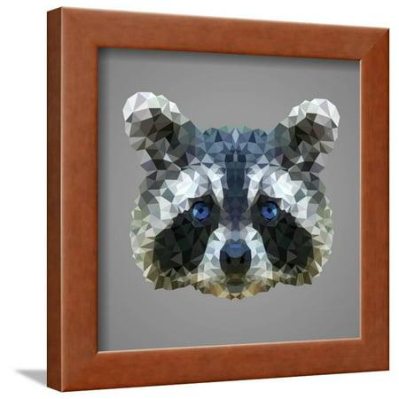Raccoon Low Poly Portrait Framed Print Wall Art By kakmyc](Low Poly Portrait)