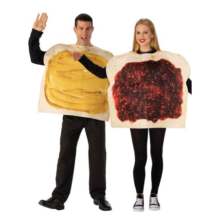 Adult Peanut Butter And Jelly Costume - Peanuts Lucy Costume