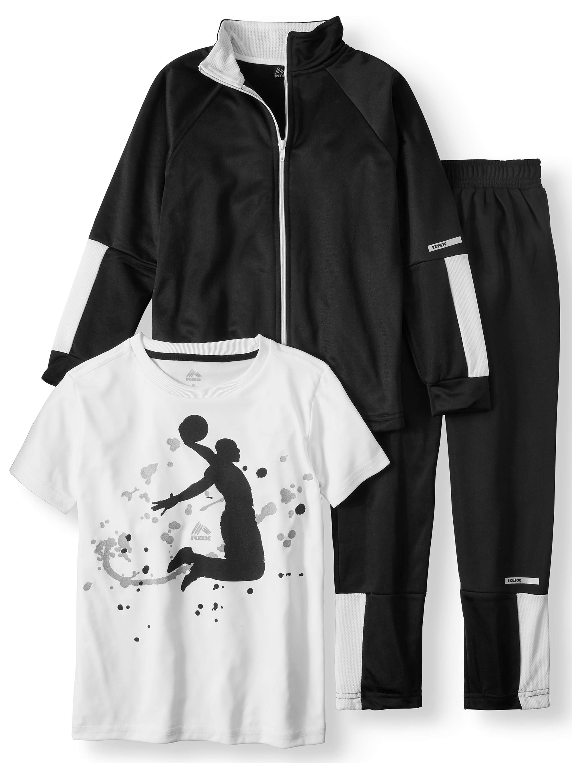 RBX Boy's 3-Piece Tricot Jacket, Graphic Tee and Pants Set