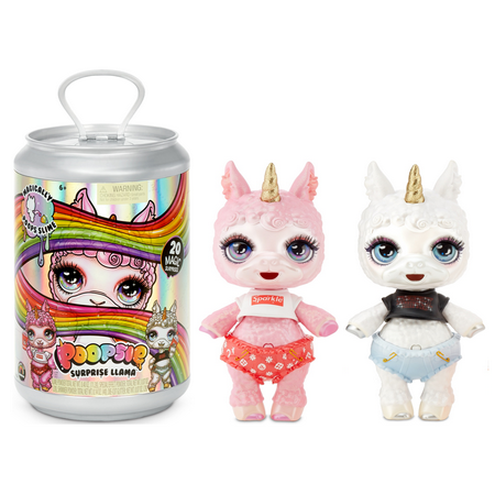 """Poopsie Slime Surprise Llama: Bonnie Blanca or Pearly Fluff, 12"""" Doll with 20+ Magical Surprises"""