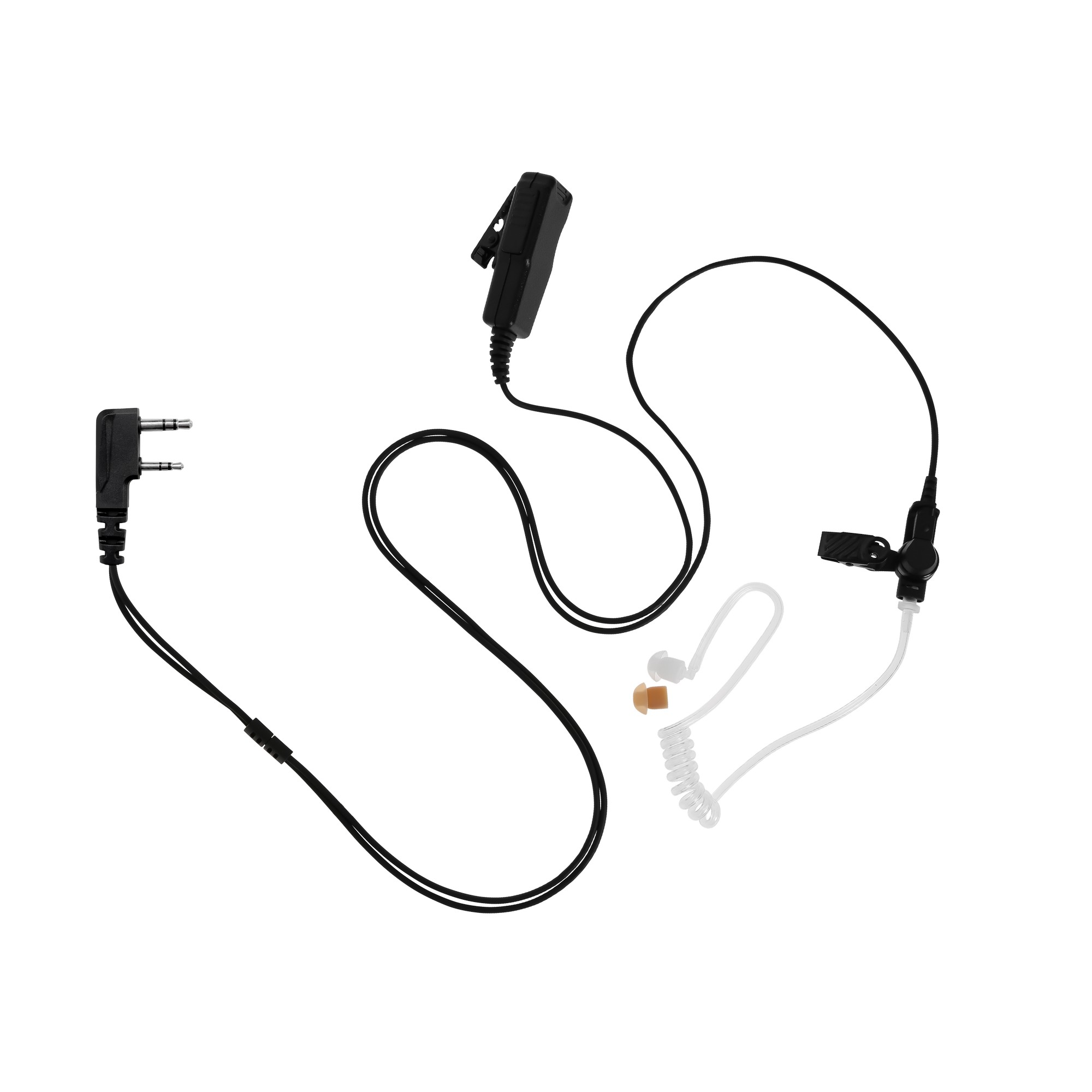 Maxtop ASK4032-K2C 2 Wire Clear Tube Earpiece