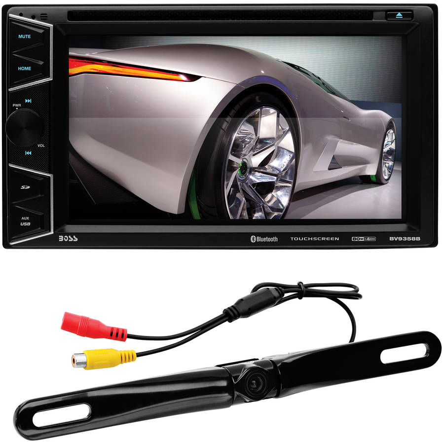 """Boss Audio BVB9358RC Double-DIN 6.2"""" Touchscreen DVD Player, Bluetooth, Rear-View Camera Included"""