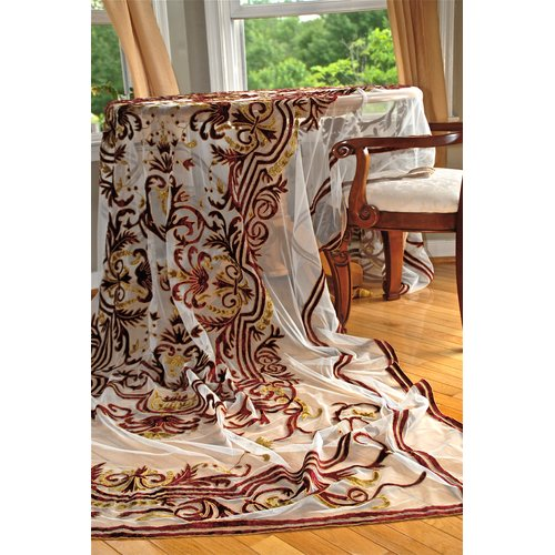 Debage Inc. Tudor Appliqu  Net Table Cover