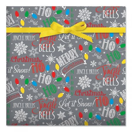 - Let It Snow Jumbo Rolled Gift Wrap- 72 sq ft.