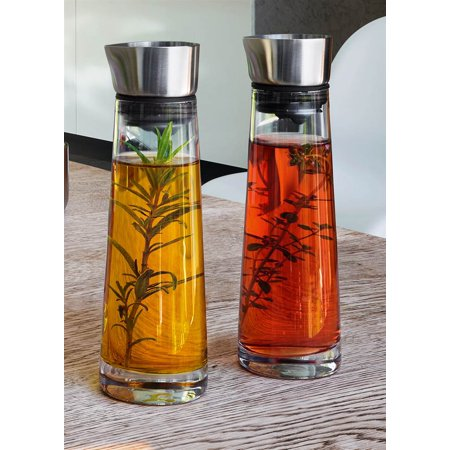 Oil and Vinegar Glass Bottle - Set of 2 ()