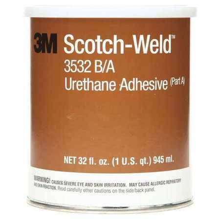 Urethane Adhesive, Can, 32 oz., Brown, 1.5 hr.,PK6 3M 3532