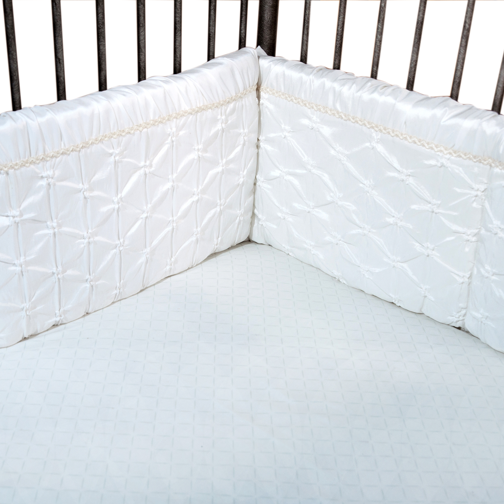 Trend Lab Marshmallow Crib Bumpers, White