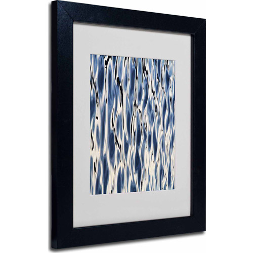 "Trademark Fine Art ""Wavelets"" Matted Framed Art by Gregory O'Hanlon, Black Frame"