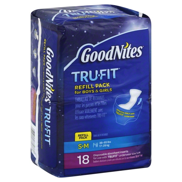 GoodNites Tru-Fit Disposable Absorbent Inserts, 18 count