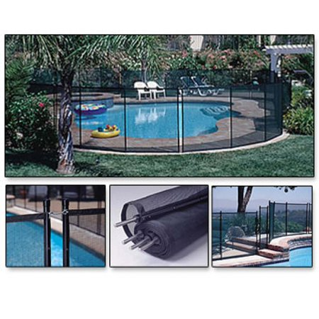 GLI Inground Removable Safety Fence 5' high x 10' wide panel - Black - 6