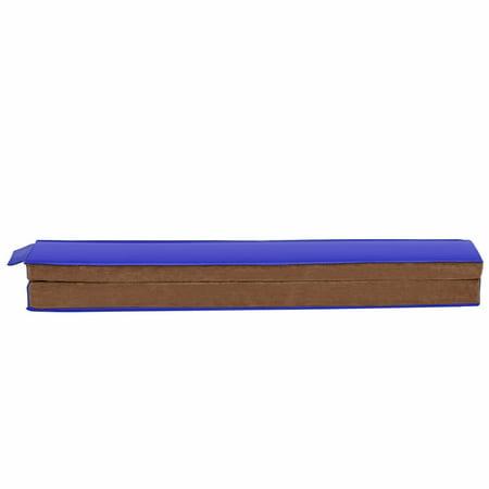 GOPLUS Poutre de Gymnastique Pliable Poutre d'Equilibre Enfants et Adultes Entraînement de Gymnastique à Domicile Bleu Café - image 5 de 10