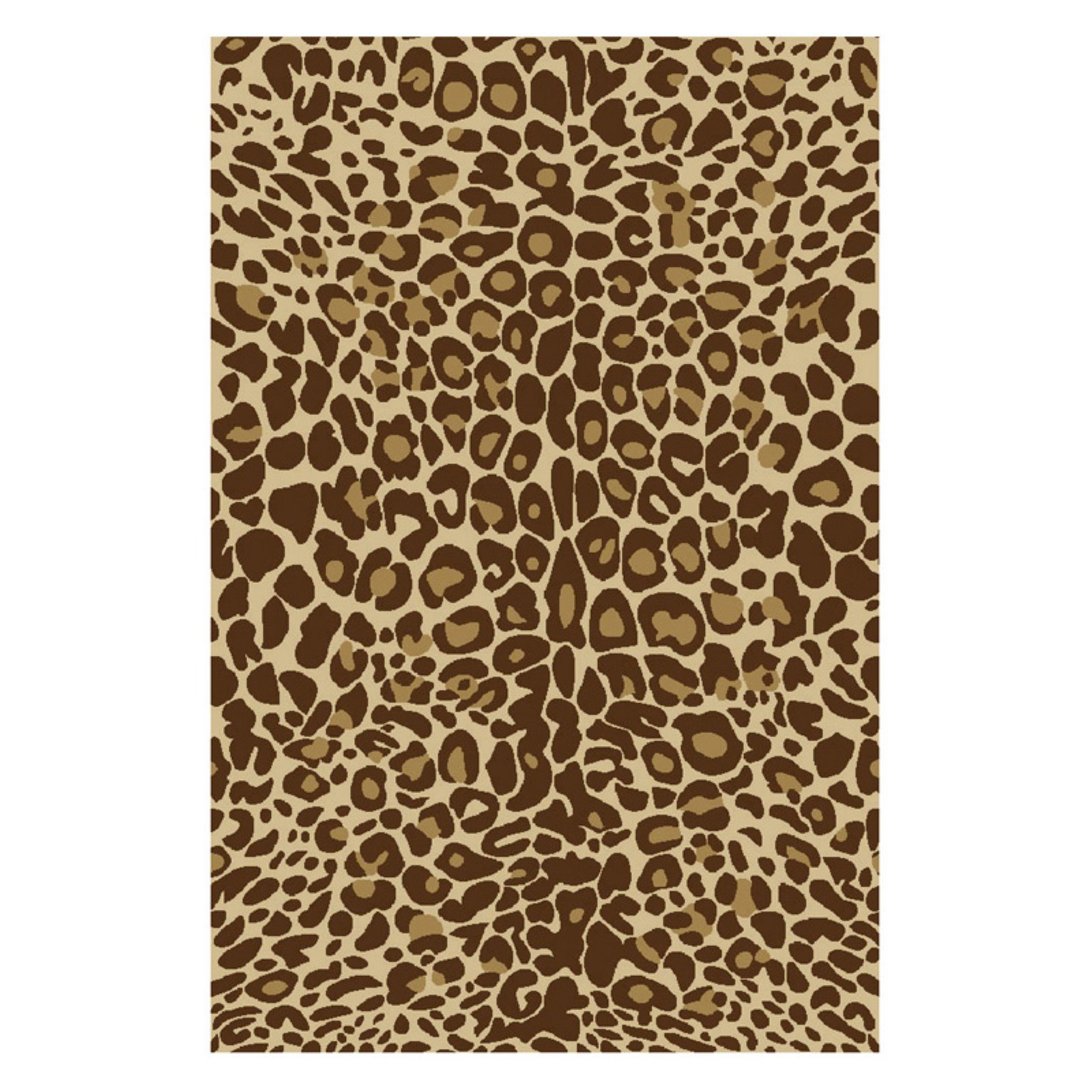 Well Woven Kings Court Leopard Animal Print Brown Area Rug