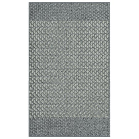Mainstays Staves Gray Olefin High Low Loop Tufted Area Rug or Runner