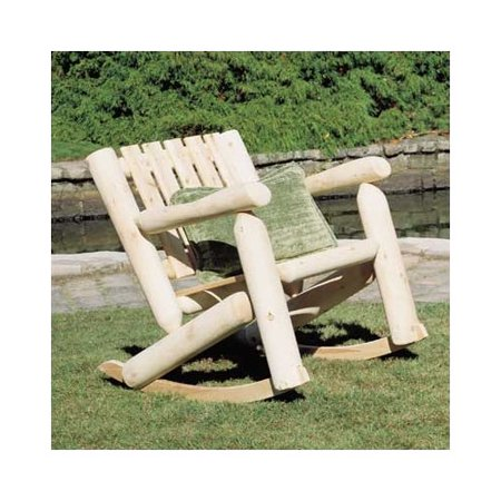 Rustic Natural Cedar Low Back Outdoor Cedar Rocking Chair