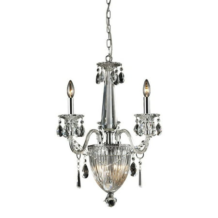 Nulco Lighting Banburgh 82017 3 6 Light Crystal Pendant Lamp In Clear Chrome Finish