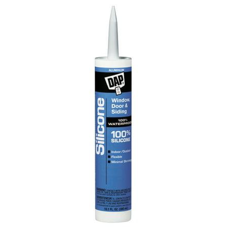 DAP All-Purpose 100% Silicone Rubber Sealants, 10.1 oz , Aluminum 100% Silicone Rubber Sealant