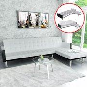 2019 New L Shape Sofa Bed Living Room Bedroom Corner Artificial Leather Folding Sofa Home Furniture