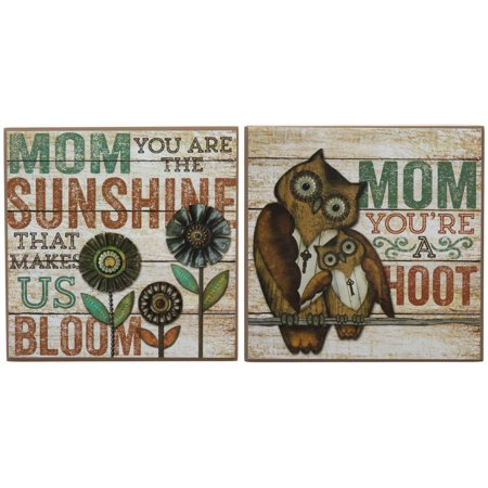 Set Of 2 Box Signs Home Again Mom Quote Rustic Country Home Dcor Wall Wood Pallet Art