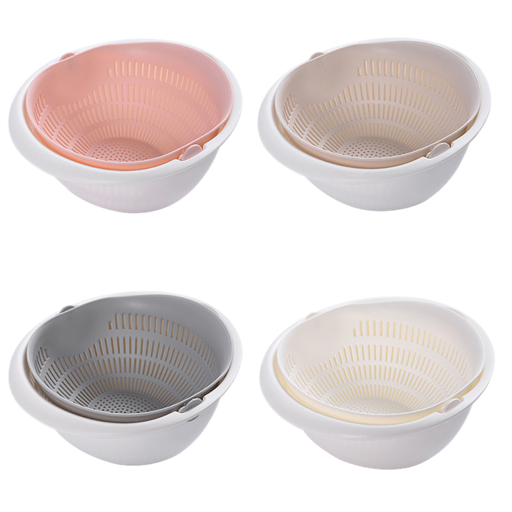 Double-layer Washing Drain Sieve Colander Basket For Vegetable And Fruit