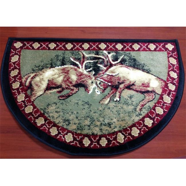IMS 28625620842640 Hearth Rug Wild Life Ramming Deer Design Lodge Cabin Fireplace 2 x 3... by IMS