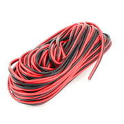 Unique Bargains Plastic Insulated Multicore Electrical Wire Cable Black Red 15M 49Feet