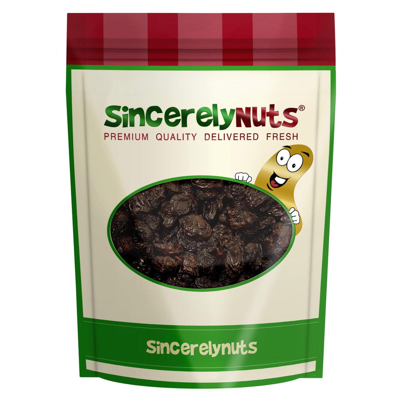 Sincerely Nuts Jumbo Black Raisins, 2 LB Bag