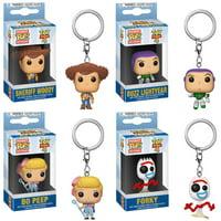 Funko Pocket POP! Keychains - Toy Story 4 S1 - SET OF 4 (Forky, Woody, Buzz & Bo Peep)