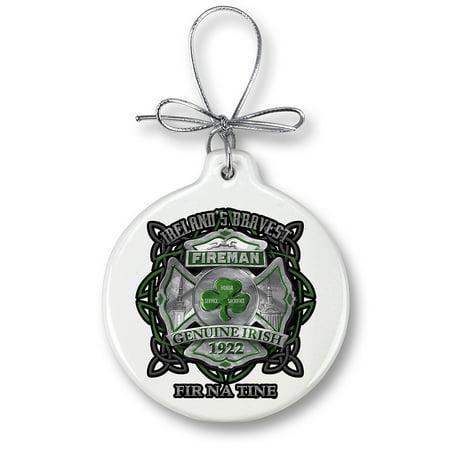 firefighter garda Ireland bravest-Christmas Tree Ornaments (Firefighter Ornaments)