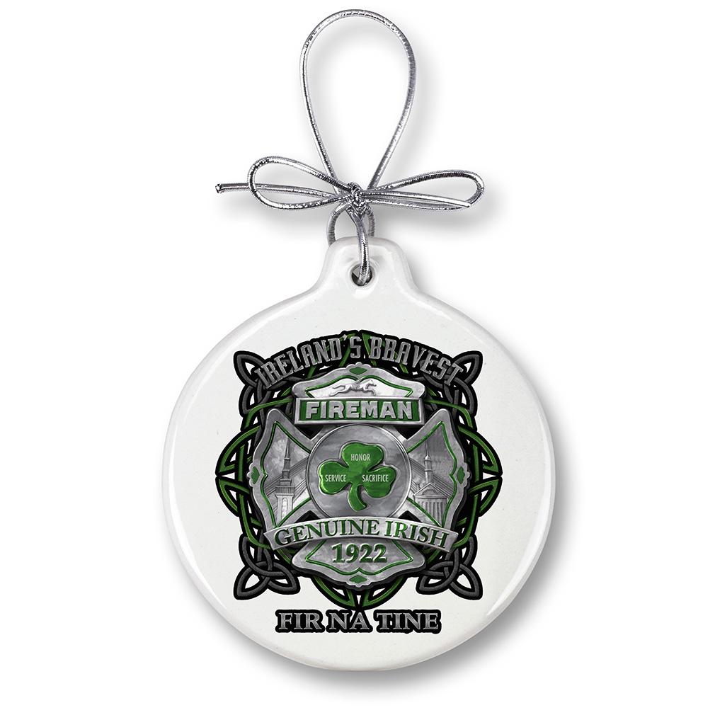 firefighter garda Ireland bravest-Christmas Tree Ornaments