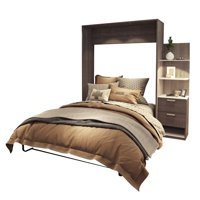 """Atlin Designs 85"""" Queen Wall Bed Kit in Bark Gray and White"""