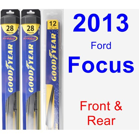 (2013 Ford Focus Wiper Blade Set/Kit (Front & Rear) (3 Blades) - Rear)