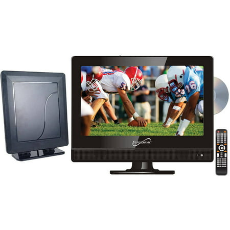 "Supersonic 13.3"" Class - HD LED TV/DVD Combo - 720p, 60Hz (SC-1312) and SC-611 HDTV Flat Digital Antenna"