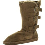 "Static Footwear Womens Microsuede 10"" Winter Boots With Buckle Detail"