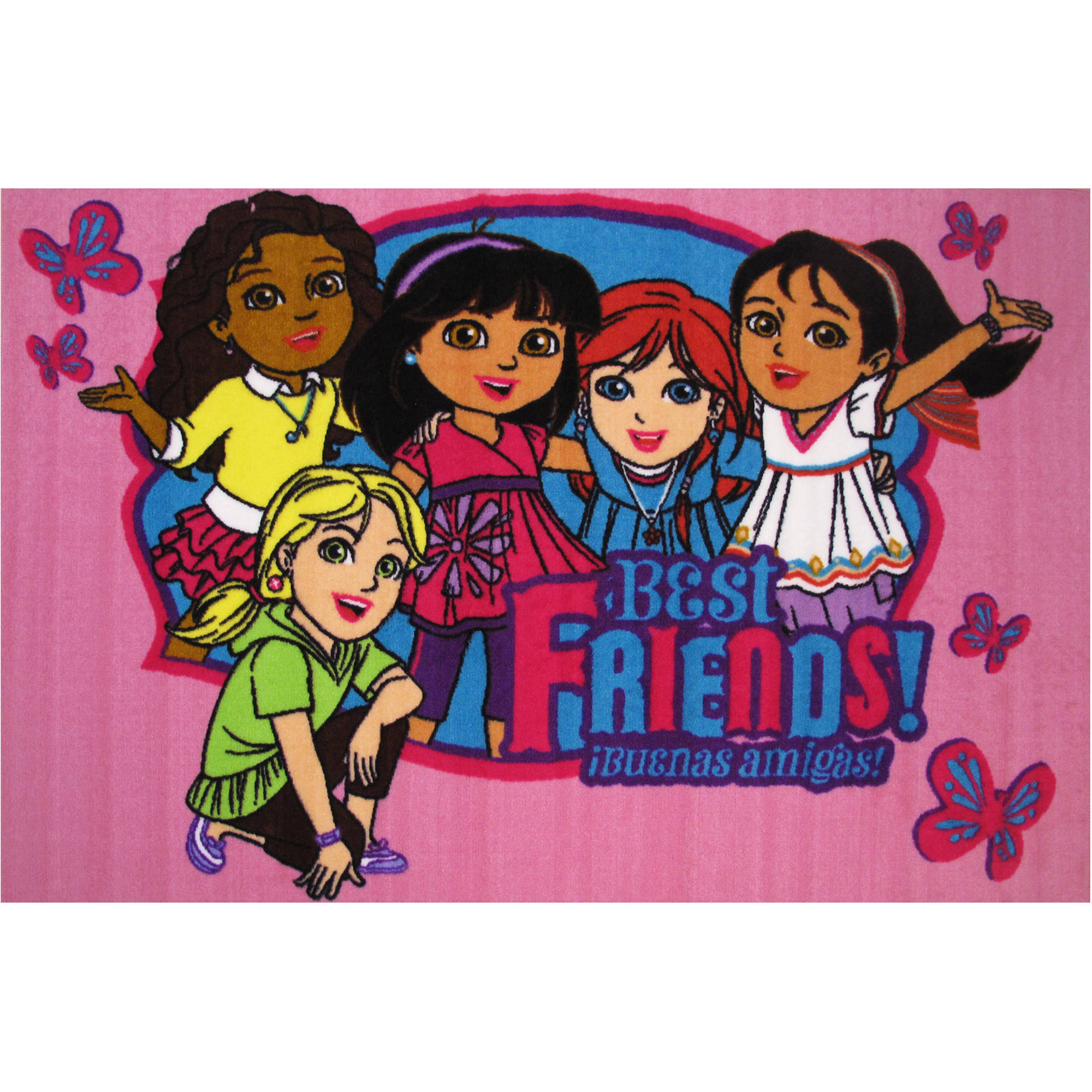 "Fun Rugs Nickelodeon Dora Best Friends Kids Rugs 19"" x 29"" Rug"