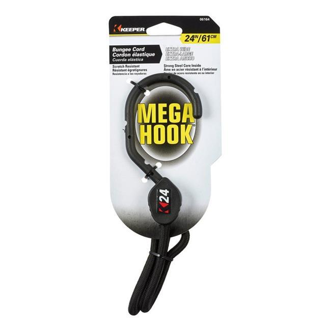 Keeper 8865545 24 in. Mega Hook Bungee Cord, Black - image 1 de 1