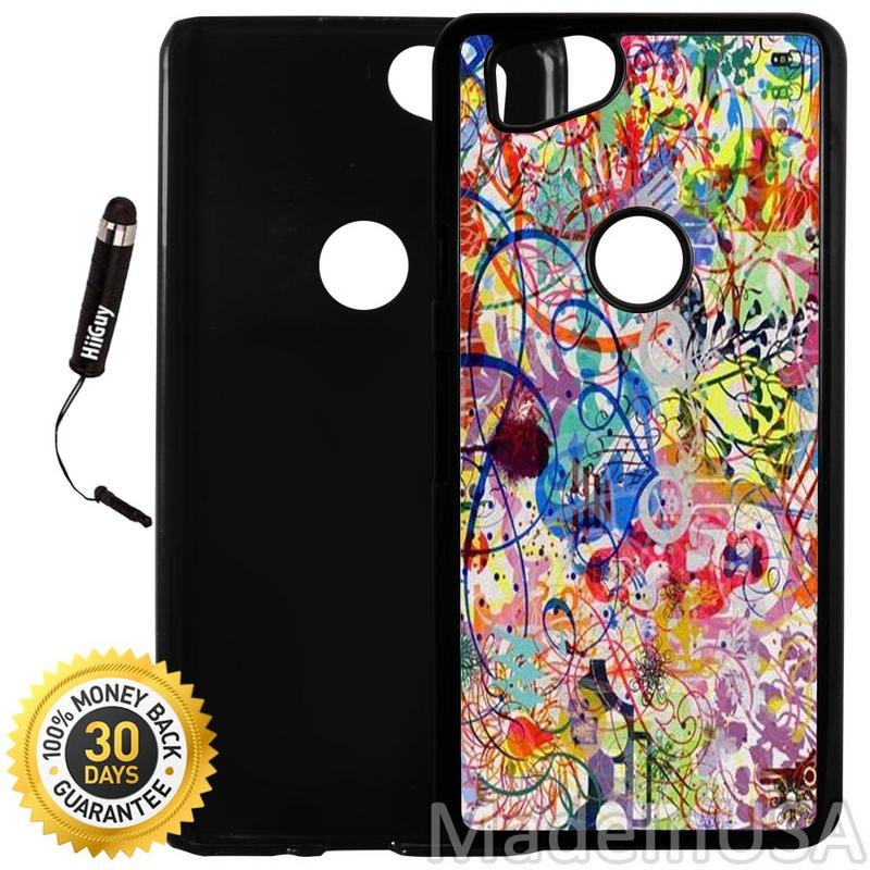 Custom Google Pixel 2 Case (Contemporary Art) Plastic Black Cover Ultra Slim | Lightweight | Includes Stylus Pen by Innosub