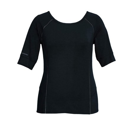 Tangerine Cotton Jersey - Tangerine Women's Modal Blend Short Sleeve Active T Shirt Black Small