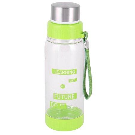 Household Plastic Detachable Drinking Tea Strainer Water Cup Bottle Green 600ml - image 3 de 3