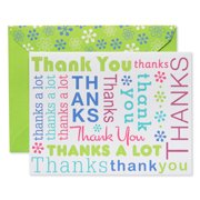Greeting cards american greetings multicolored script thank you cards and lime green envelopes 50ct m4hsunfo